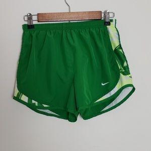 Nike dri- fit green shorts